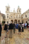 Pilgrims entering the church at Cana