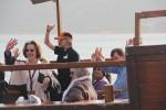 Pilgrims on the Hope boat