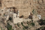 St George's Monastery embedded in the rock of the Judaean desert
