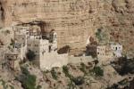 St George's Monastery embedded in the rock of the Judaean desert