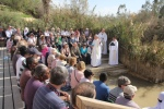 Bishop Christopher preaching by the River Jordan