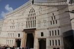 The facade of the Basilica of the Annunciation